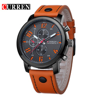 2015 New Luxury Brand Quartz Sports Watches Men Leather Strap Casual Wrist Watch Relogio Masculino Male