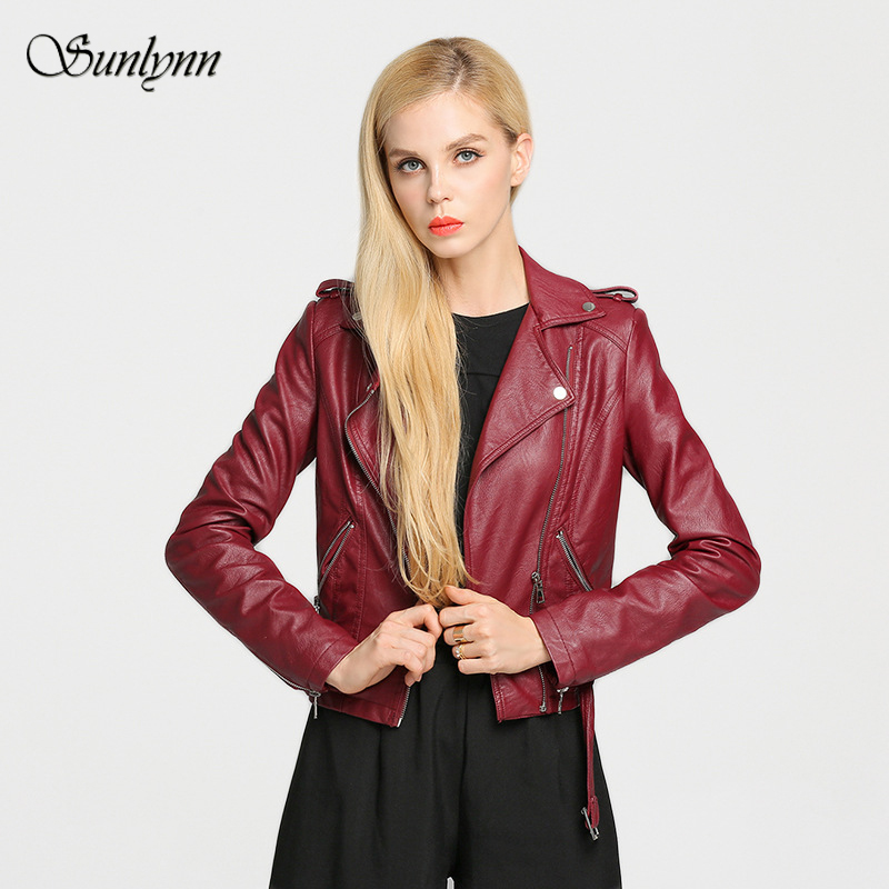 Popular Cropped Leather Jacket Women-Buy Cheap Cropped Leather ...