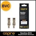 5 unids/lote bobinas bvc 1.6 ohm y 1.8 ohm resistencia vertical inferior core para aspire nautilus y nautilus mini tanque