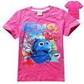 Girl clothes Children t shirt  cotton short sleeve t-shirt with Finding Dory  cartoon summer girls clothing  new 2017