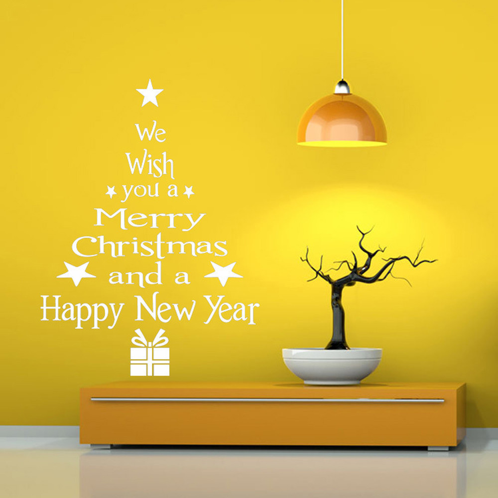 2017 Home Decorative Vinyl Removable 3D Wall Sticker Christmas Tree ...