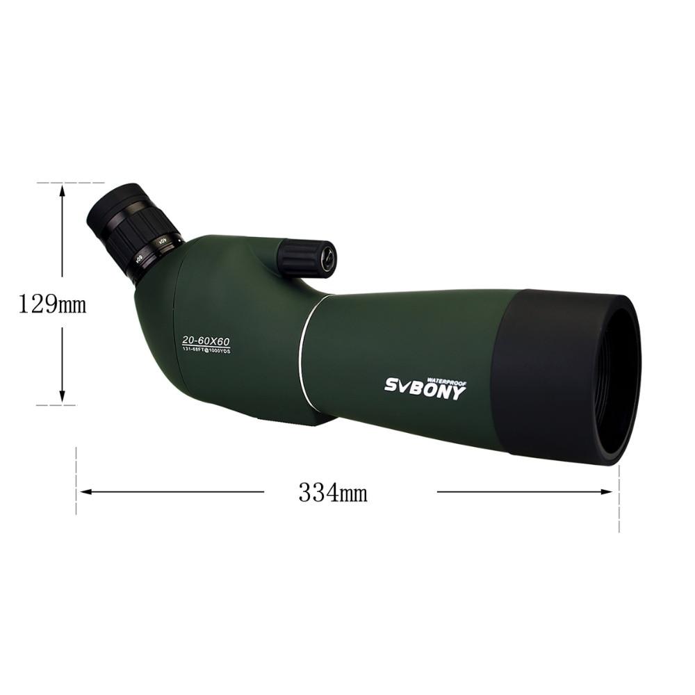 Image 4 - SV28 20 60x60 Spotting Scope Zoom Monocular Hunting Telescope Birdwatch & Universal Phone Adapter Mount Waterproof SVBONY F9308-in Spotting Scopes from Sports & Entertainment
