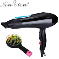Hair Dryer Professional Blow Hot And Cold Wind Black HairDryer 2100W With 2 Free Nozzles Styling