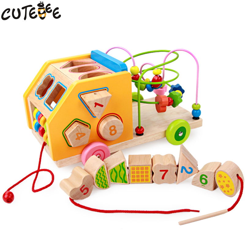Cutebee Wooden Toys for Children Montessori Toy Puzzle Cube Multi Function Shape Matching Intelligence Box for Kids Baby Toys dayan gem vi cube speed puzzle magic cubes educational game toys gift for children kids grownups