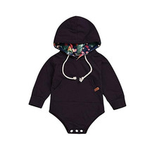 Baby Boys Girls Hoodies Top Romper Jumpsuit with Pocket Clothes цена 2017
