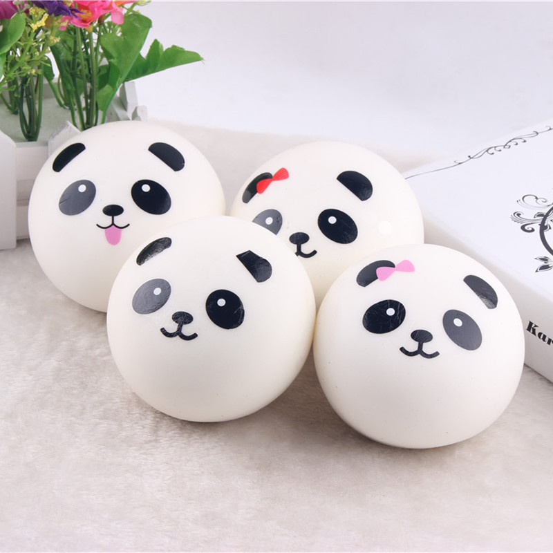 7cm Key/bag Strap Pendant Squishes Bag Accessories Jumbo Panda Charms Kawaii Buns Bread Cell Phone Bag Parts & Accessories