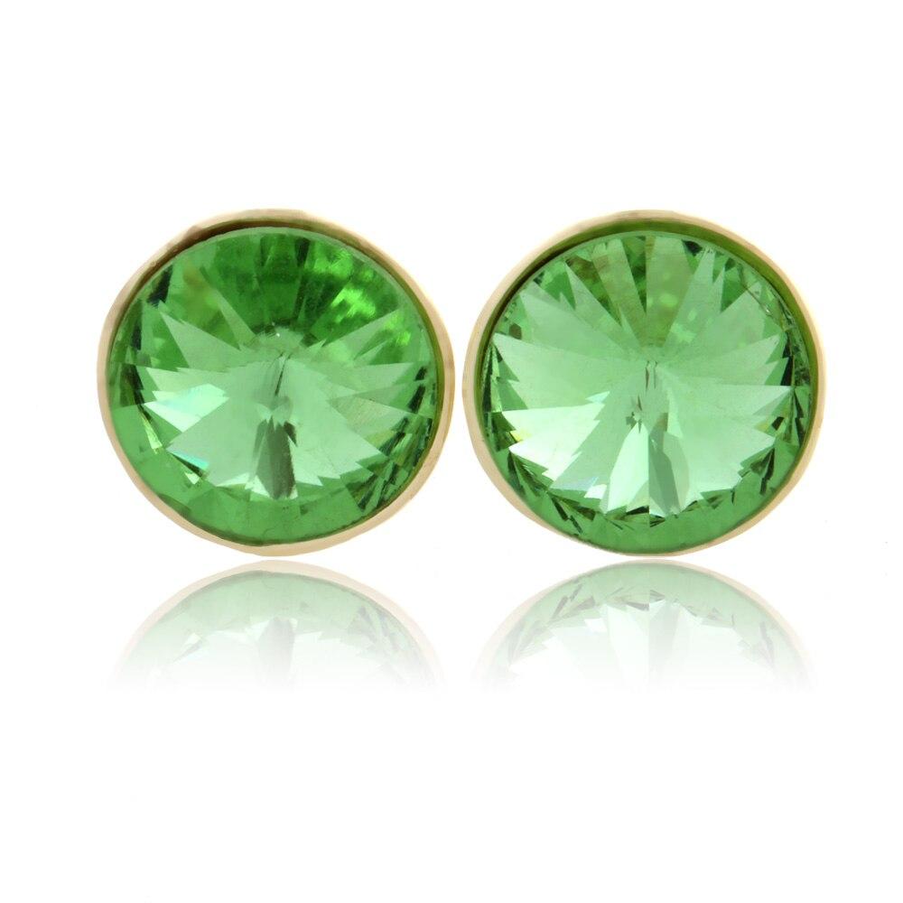Simple Crystal stud earrings 2016 oorbellen gold earrings for woman orecchini donna flower earing boucle doreille femme jewelry