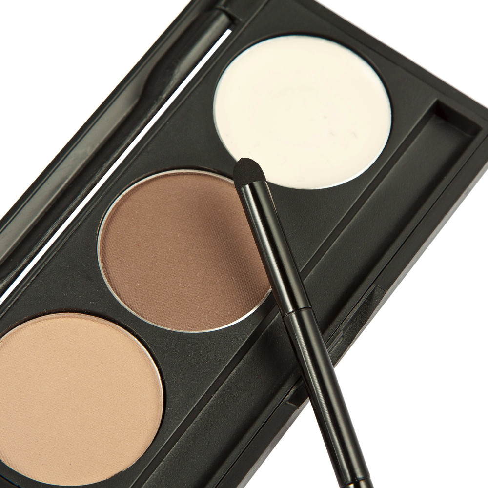 2017 Makeup 3 Colors Eyebrow Powder Concealer Palette With Mirror Eyebrow Brush Brand New Base Foundation Concealers Face Powder