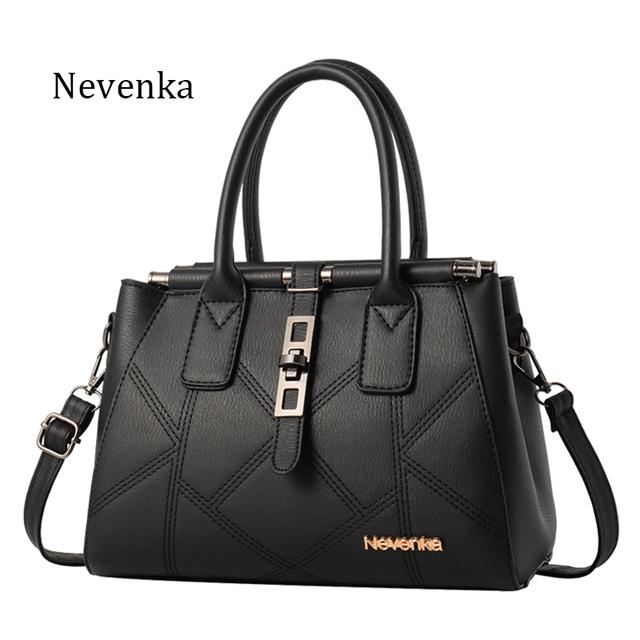 Nevenka Fashion Woman Handbag Top-handle Shoulder Bags PU Leather Evening Frame Spring New Handbags Designer Famous Brand Sac