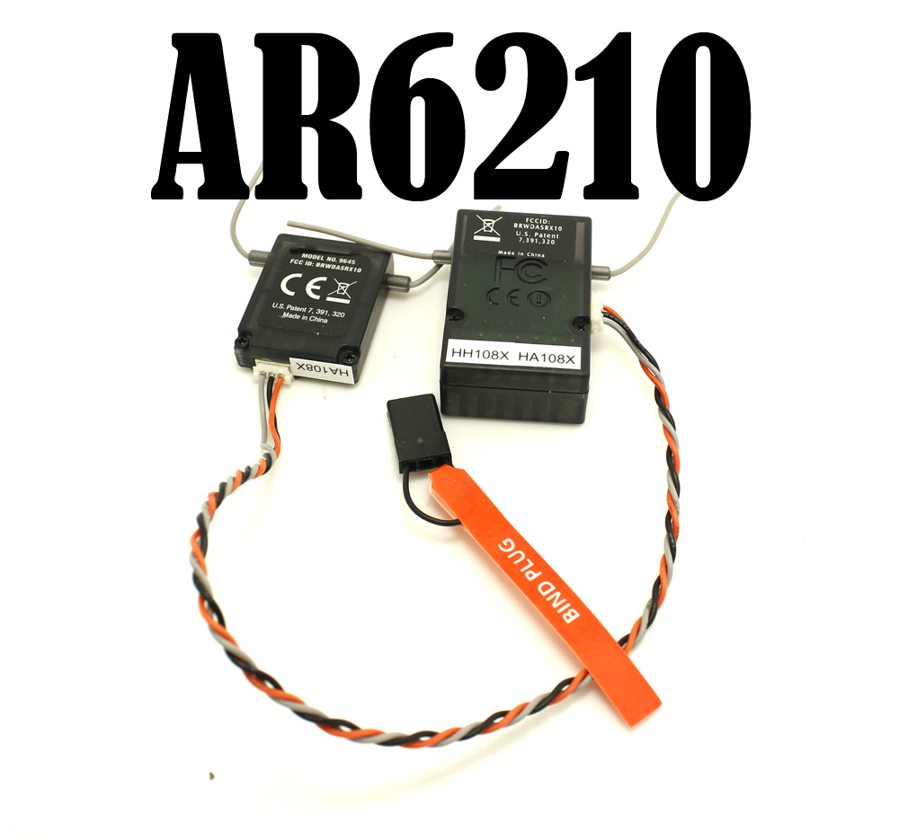 10PCS LOT AR6210 6CH RC RECEIVER 2 4GHZ FOR RC HELICOPTER AIRPLANE RANGE 600M