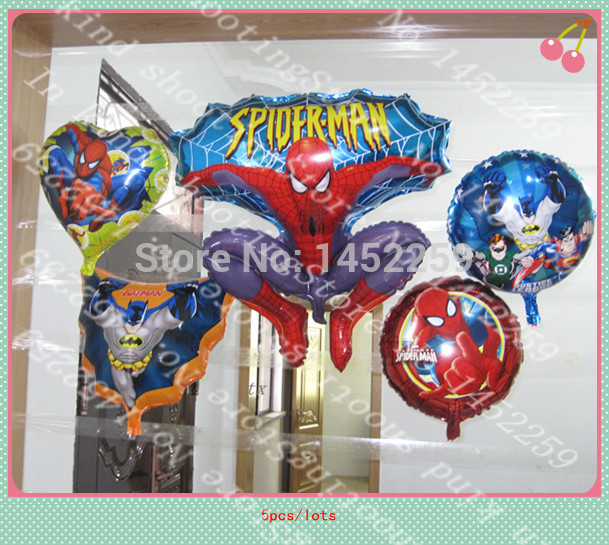 XXPWJ  5pcs / lot aluminum balloons party decoration of children's toys cartoon