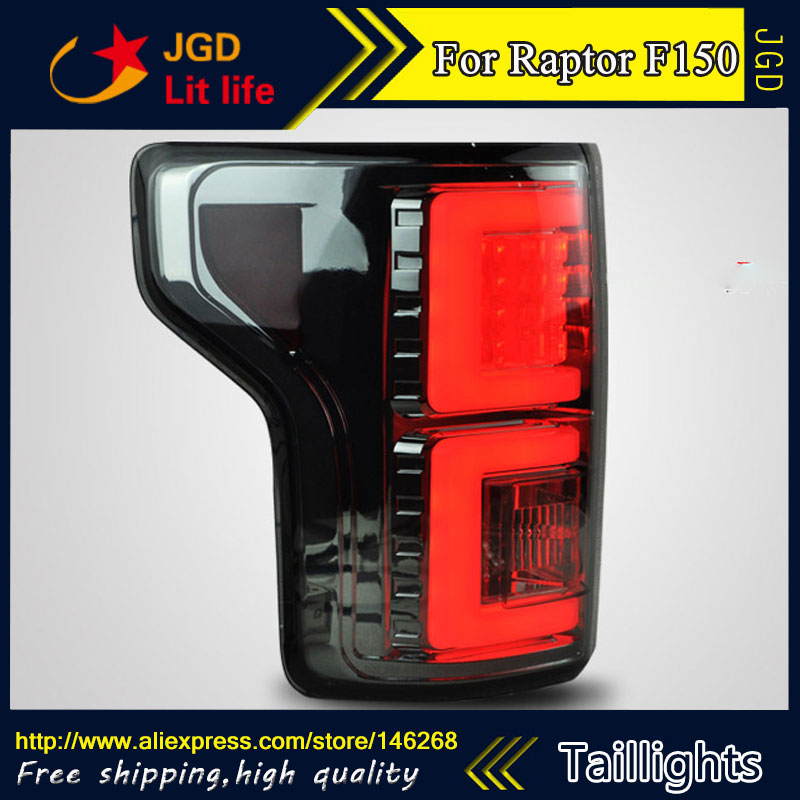 Car Styling tail lights for Raptor F150 2015 taillights LED Tail Lamp rear trunk lamp cover drl+signal+brake+reverse