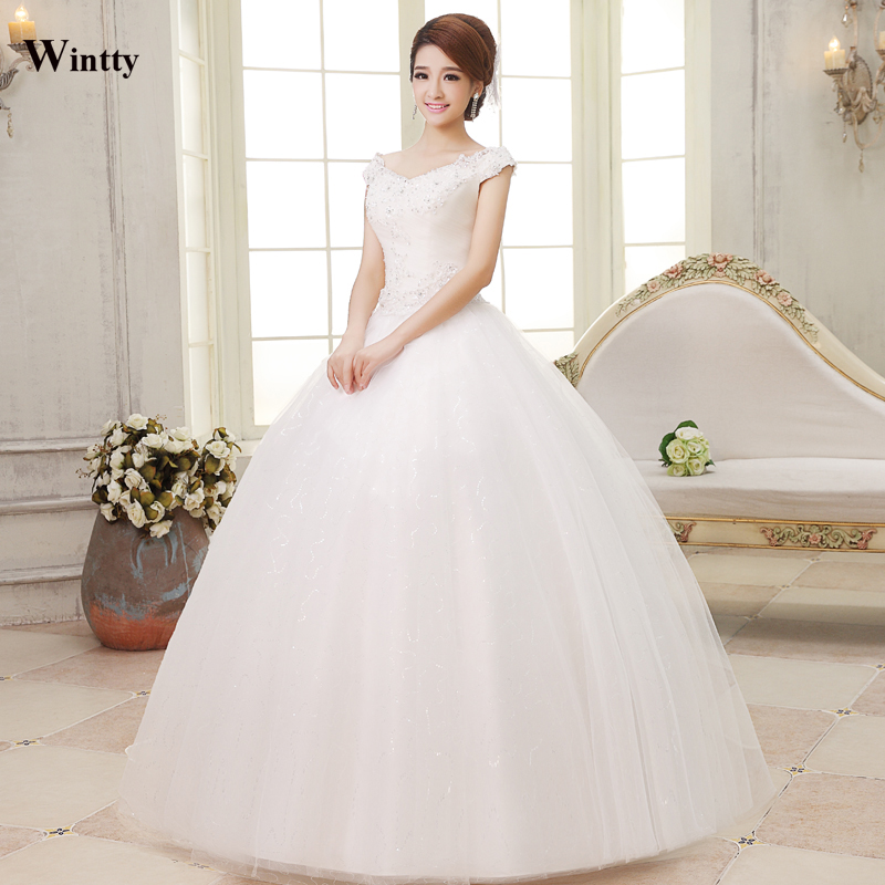Wintty Lace Vintage Wedding Dresses Plus Size A Line Women