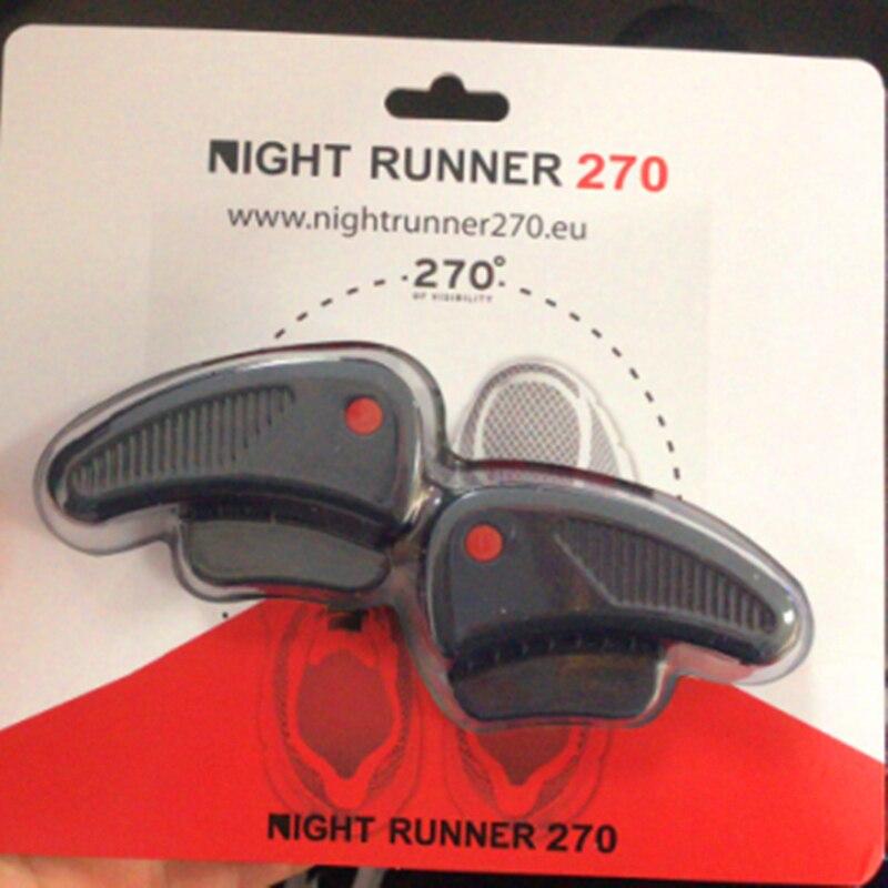 Nacht Runner 270 Nachtlauf Getriebe Lichter für Laufschuhe, 270 grad Schuh Lichter, Wasserdicht, zwei Ultra Led-leuchten