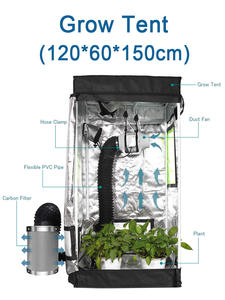 Floor-Tray Grow-Tent Hydroponic Indoor for And Plant Observation Mylar Mylar