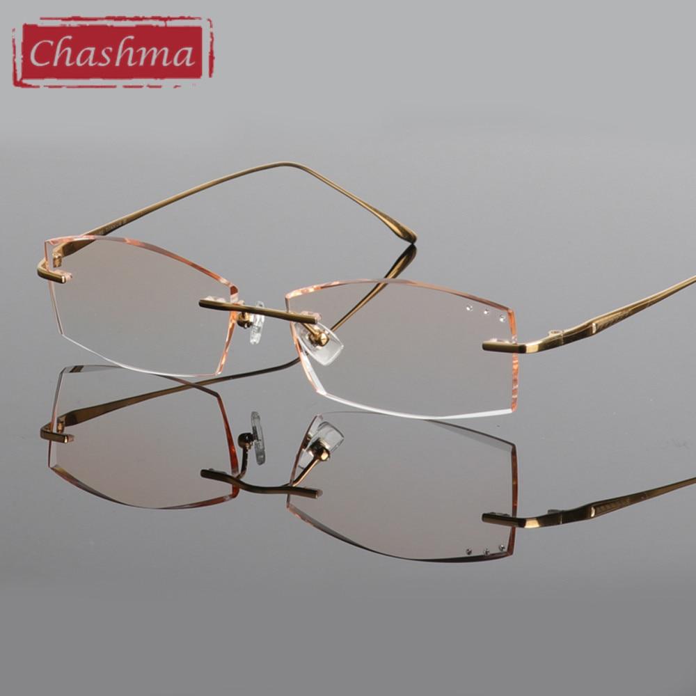 Chashma Blagovne znamke Titanium Modna moška očala Diamant obrezana - Oblačilni dodatki - Fotografija 5