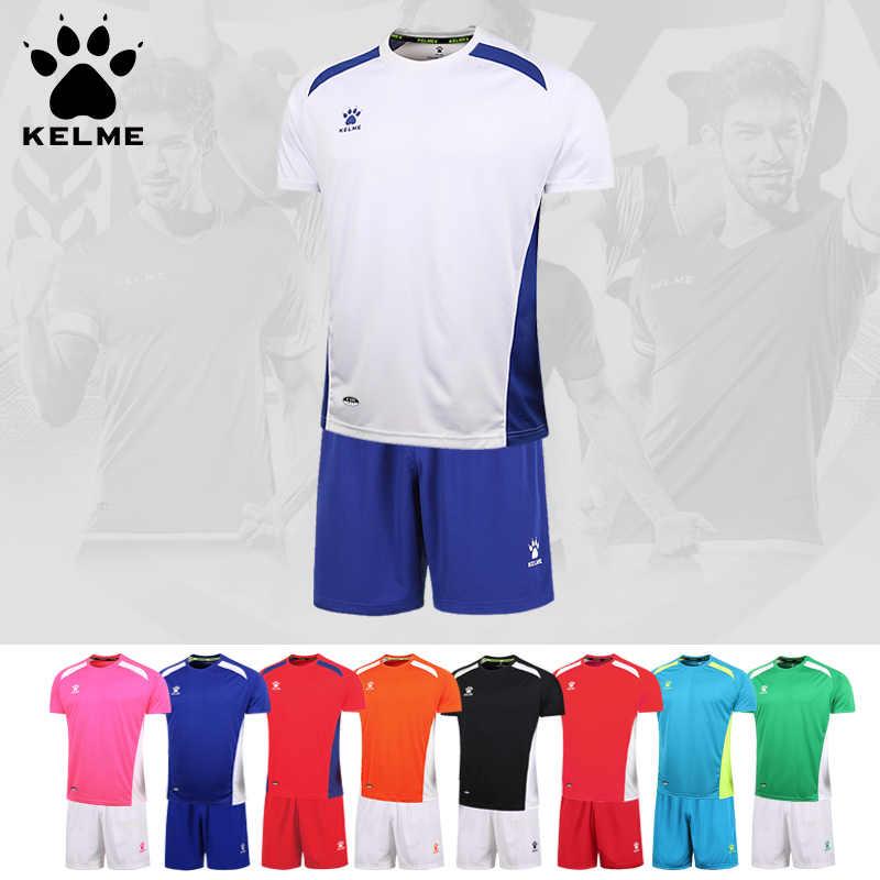 9360f0d9812 KELME Soccer Jerseys Uniforms Sets Short Sleeve Football Training Jerseys  Quick-drying Soccer Shirt K15Z210