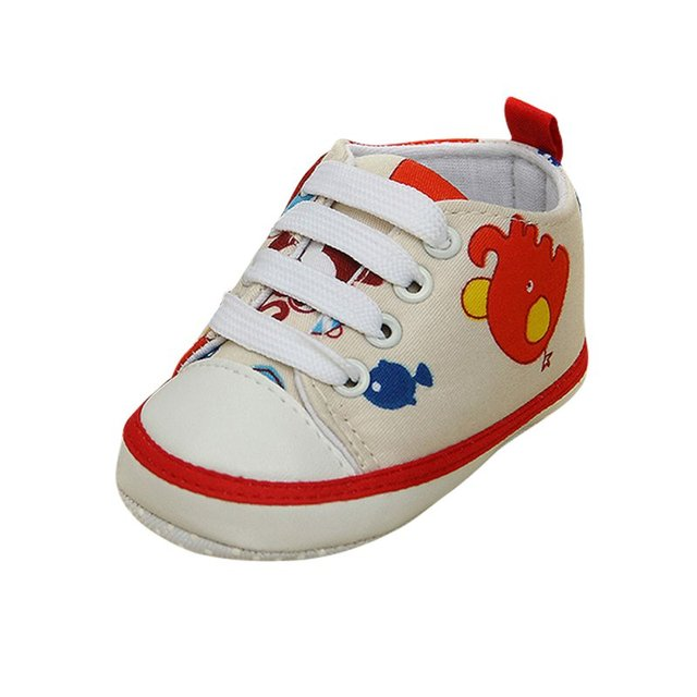 Newborn Baby Boys Girls Cute Animal Lace-Up Comfortable Prewalker Toddler Soft Sole Anti-slip Shoes