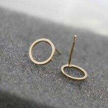 Ms hot style copper casting geometry 0 simple stud earrings beautiful pop punk eardrop