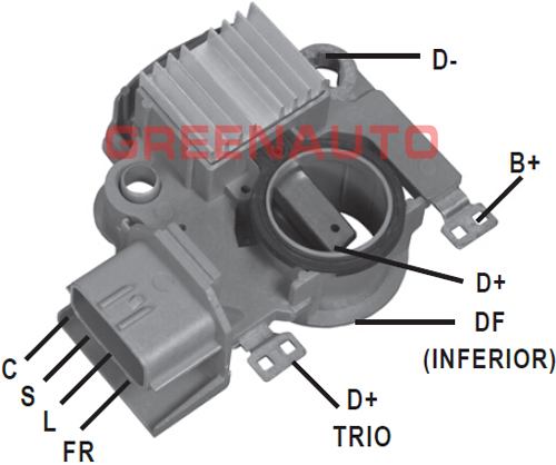 14V Alternator Voltage Regulator MD618957 For Mitsubishi Eclipse Eagle Talon For Alternator OEM A2T82791 A2T82792 A2TA5394