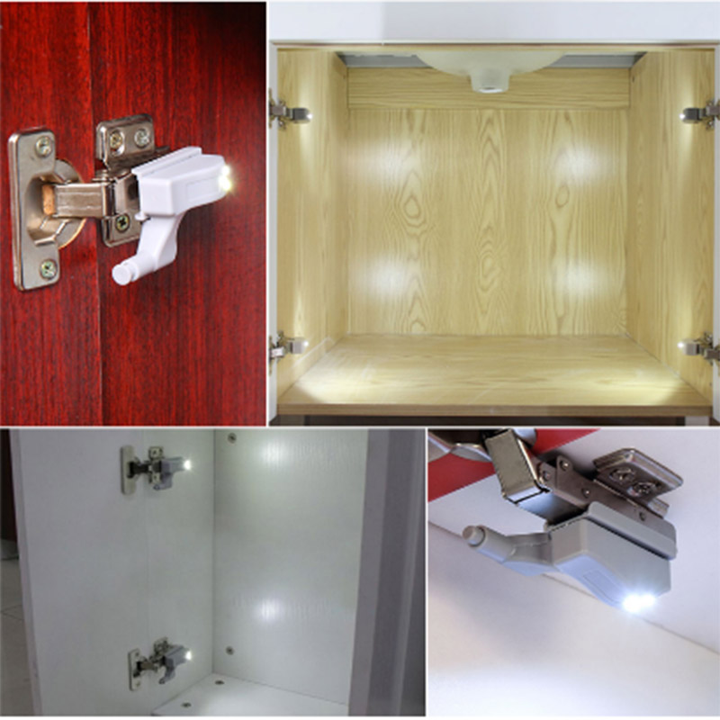 5 Packs Inner Hinge LED Sensor Under Cabinet Lights For Furniture Accessories Ornament Kitchen Bedroom Closet Wardrobe 8