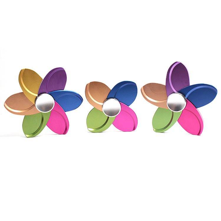 Pinwheel Windmills Colorful Alloy Fidget Spinner Hand Spinner For Better Focus Reduce Autism ADHD Stress Toys With Gift Box