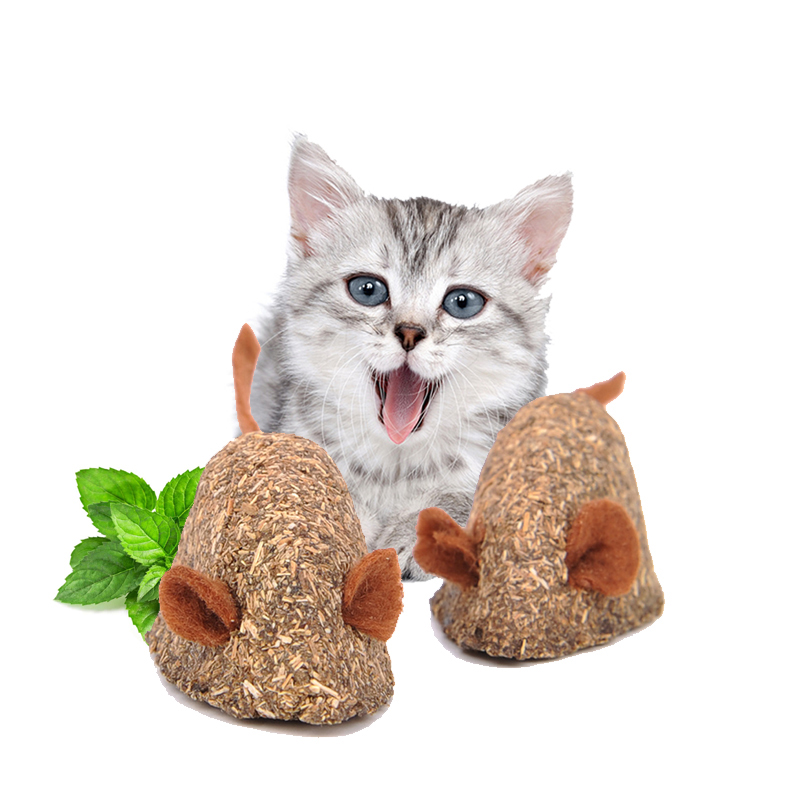 YVYOO Creative Pet Cat toy Catnip Toys Mint ball Catnip toy Fake mice Add Vitamins Clean the mouth 1pcs A03