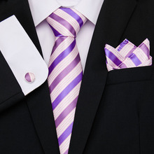 2019 new arrival  men brand luxury necktie pocket square wedding neck ties silk tie set cufflinks handkerchief shirt accessory