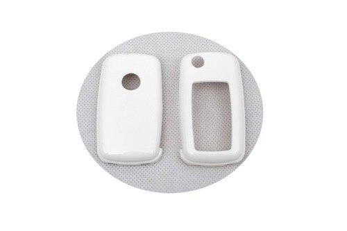 Жесткий Пластик БЕСКЛЮЧЕВОЙ дистанционный ключ защитный кожух(белый глянец) для Фольксваген MK6