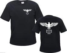 Imperial Eagle T Shirt Sắt Chéo Phía Trước và Phía Sau S để 3XL Sắt Chéo