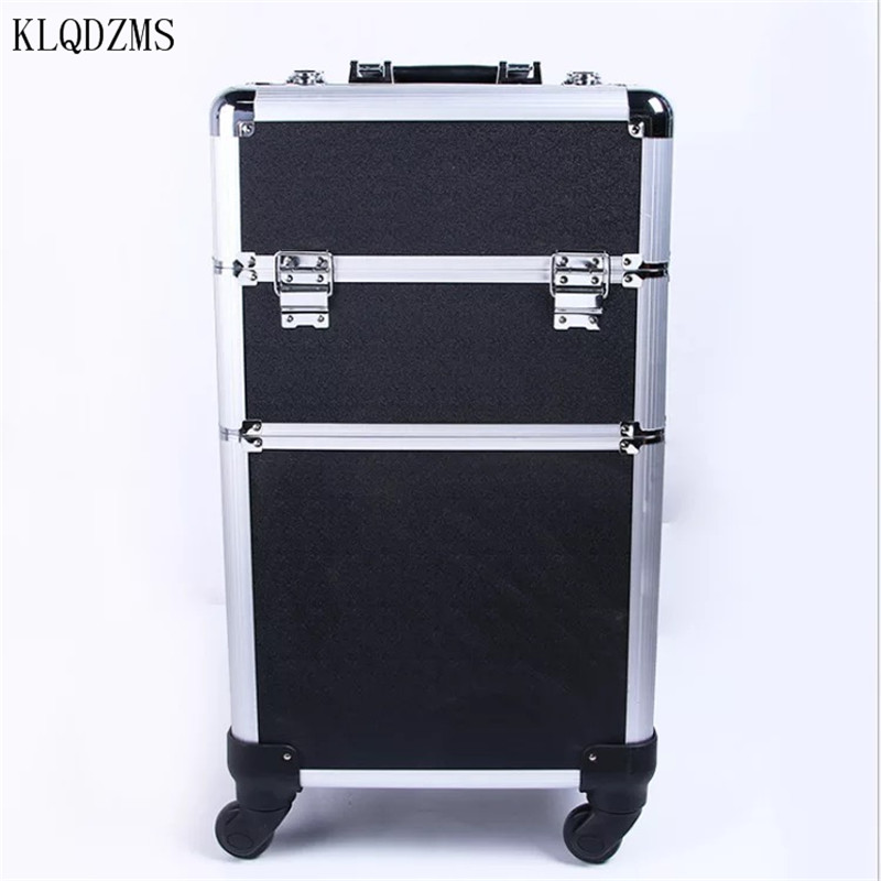 KLQDZMS Trolley Cosmetic Case Luggage Profession Suitcase For Makeup  Woman Luggage Travel Cosmetic Bag Wheels