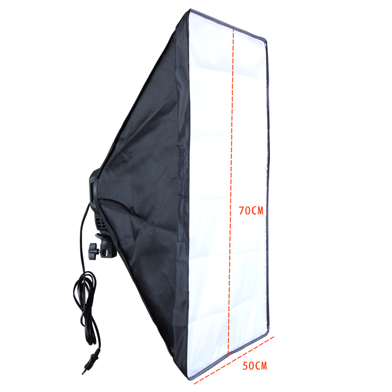 Image 5 - Photo Studio Diffuser 50*70cm Softbox E27 4 Lamp Holder Continuous Lighting Soft Box Kit include Light Stand with 45w Bulbs-in Softbox from Consumer Electronics