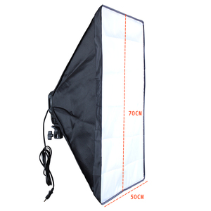 Image 5 - Photo Studio Diffuser 50*70cm Softbox E27 4 Lamp Holder Continuous Lighting Soft Box Kit include Light Stand with 45w Bulbs