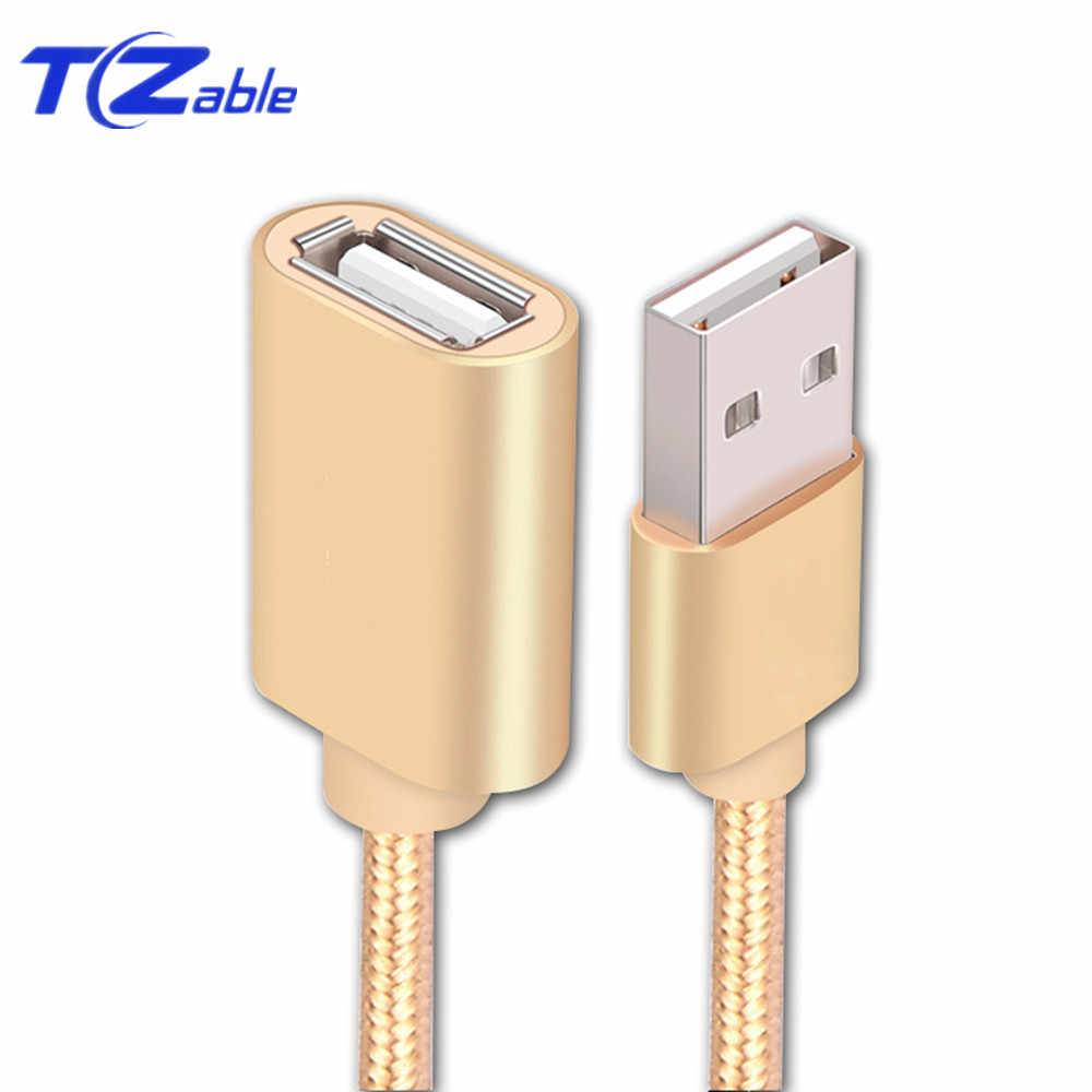 USB 2.0 Extension Cable Male To Female 0.5m 1m 2m 3m Connection Line For PC Laptop Computer U Disk Mouse USB Extension Cord