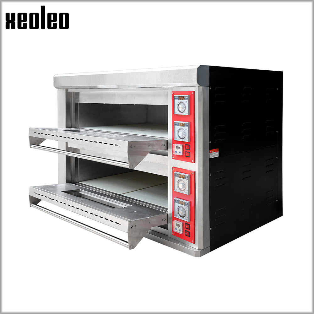 XEOLEO Commercial Digital Electric Oven 2KW Pizza Oven Two-layer Professional Electric Baking Oven Cake/Bread/Pizza With Timer 3000w stainless steel commercial electric pizza oven with timer 2 layer making bread pizza cake baking oven