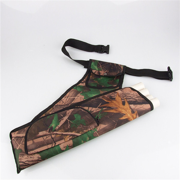 NEW ARRIVAL 2017 Special Offer New Arrival Archery 4 Tubes Accessorie Holder Hunting Camo bag Bow Arrow Belt Quiver Pouch