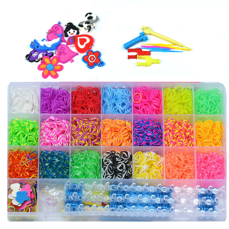 Rubber Bands To Weave Bracelet 4200Pcs Gum DIY Charm For Plaiting Eavingel Wastic Band Boy Girl Hair Accessories Machine Set 100pcs lot fluorescence colored hair band holders rubber bands elastics hair accessories girl women hair ties gum page 6