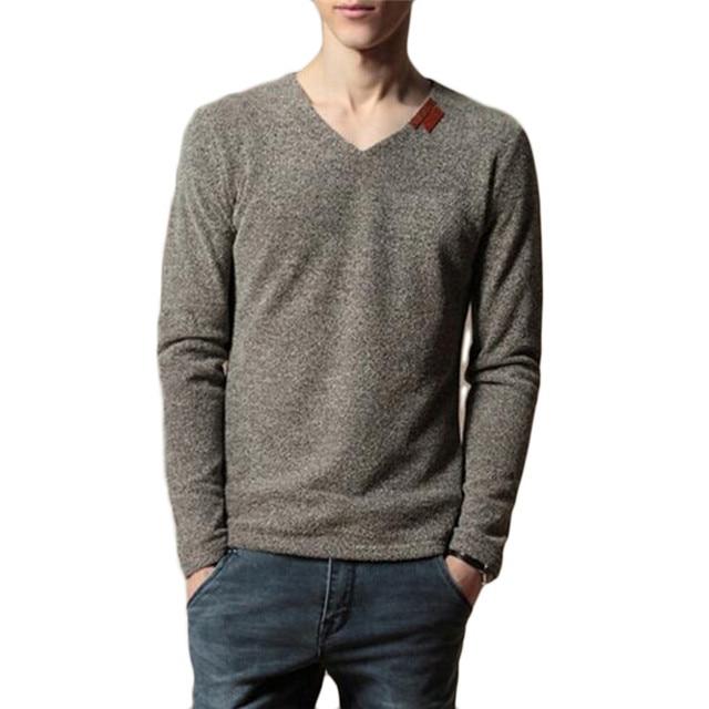 HimanJie Multi Color Long Sleeve T Shirt Men Slim Fit Autumn Mesh Casual T-Shirt Basic Style Hip Hop V Neck T Shirt Plus Size