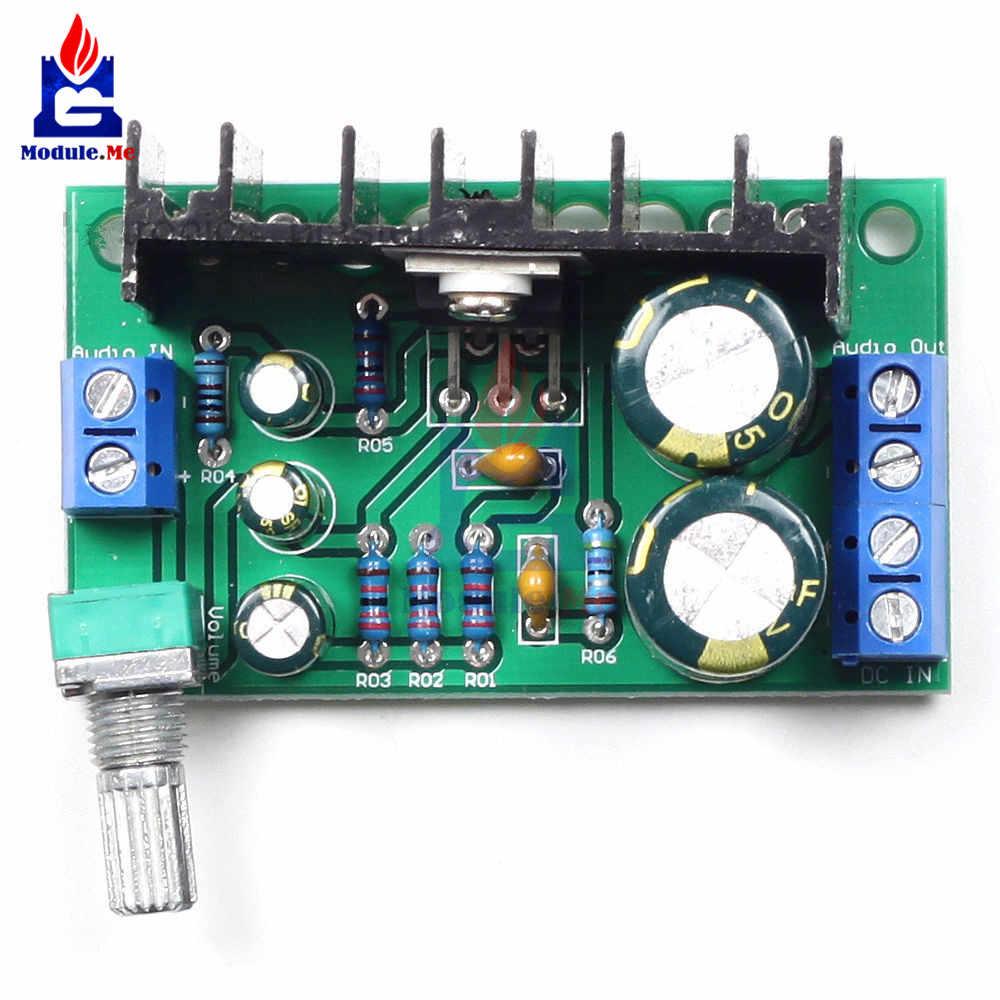 TDA2050 аудио USB Питание потенциометра усилитель доска 1 один канал CH AC DC 12-24 В 5 Вт 120 Вт модуль