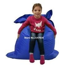 Cobalto azul multifuncional cadeira do saco de feijão, crianças portátil beanbag sofá