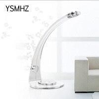 YSMHZ LEDคริลิคใสสีฟ้าแสง5วัตต์บรรยากาศโรแมนติกโคมไฟคืนสัมผัสแสงสีฟ้าสำหรับห้องนอนห้องนั่ง