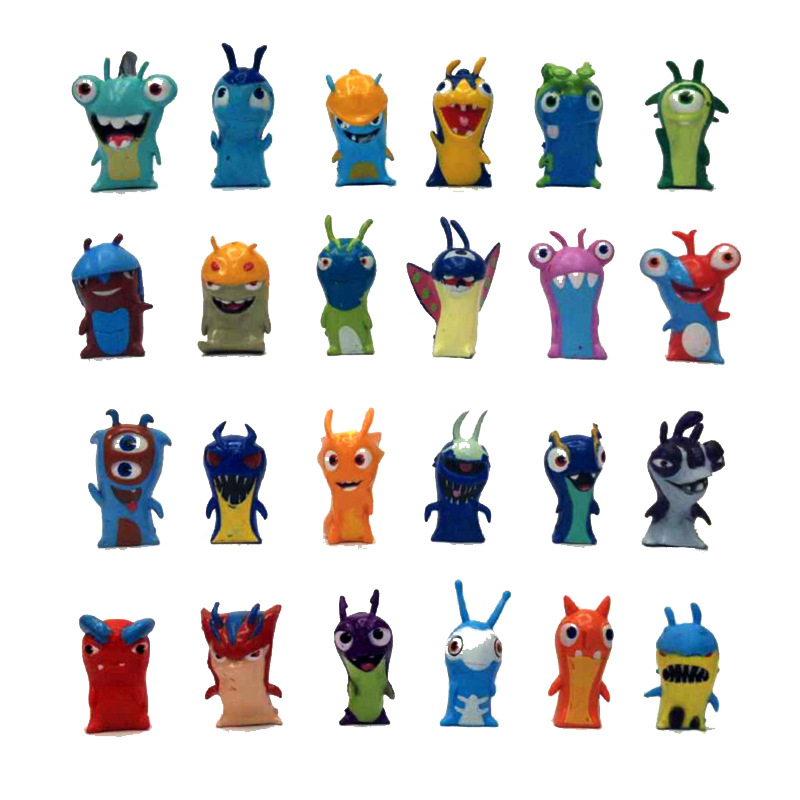 2016 New 1pcs 24style Random delivery 5cm Anime Cartoon Slugterra Mini PVC Action Figures Toys Dolls Child Toys image