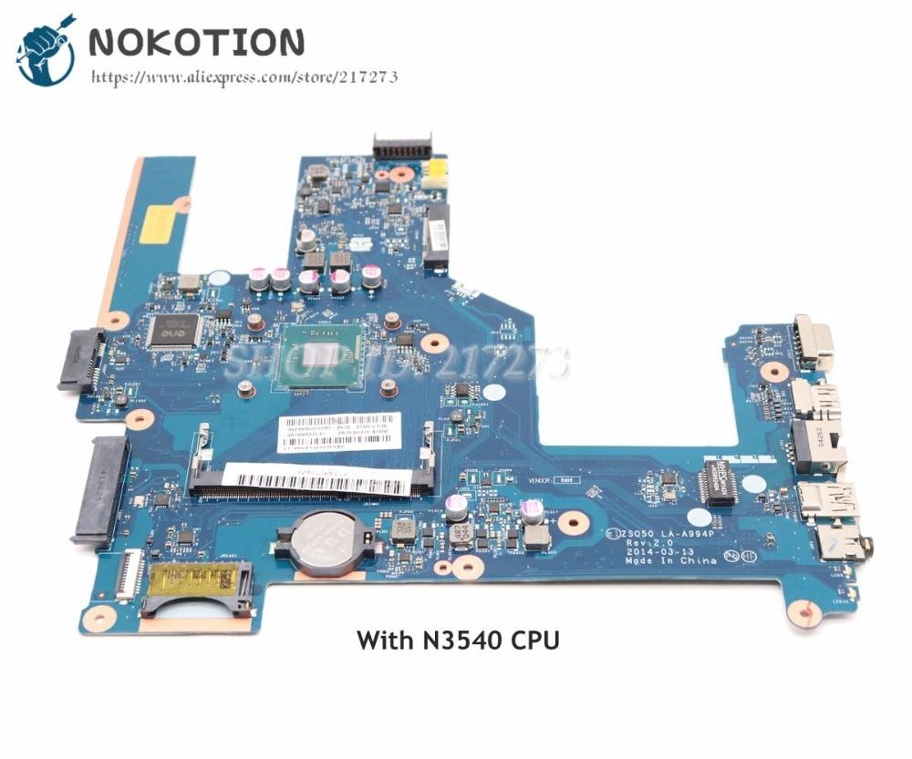 NOKOTION 788287-001 764103-501 MAIN BOARD For HP Pavilion 15-R Laptop motherboard ZSO50 LA-A994P N3540 CPU DDR3LNOKOTION 788287-001 764103-501 MAIN BOARD For HP Pavilion 15-R Laptop motherboard ZSO50 LA-A994P N3540 CPU DDR3L