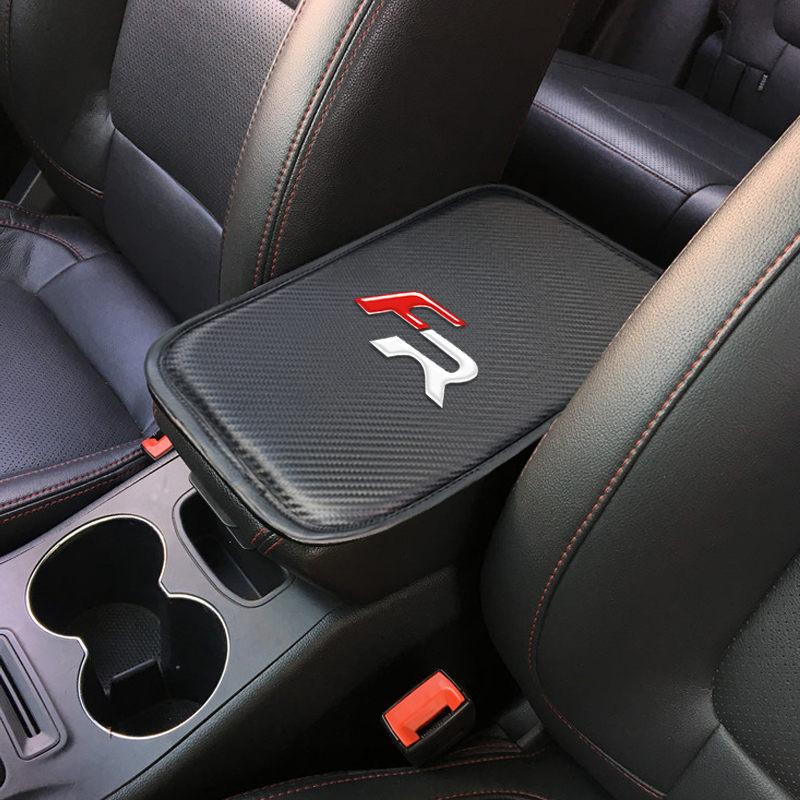Auto Console Central Armrest Soft Pad Cushion Mat For Seat FR+ Leon Ibiza Cupra Altea Car Seat Box Padding Protective Soft Mats