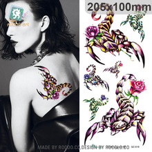 QC618/Simulation scorpion tattoo design temporary body sticker for back