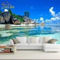 Custom 3D Mural Wallpaper Non Woven Bedroom Livig Room TV Sofa Backdrop Wall Paper Ocean Sea