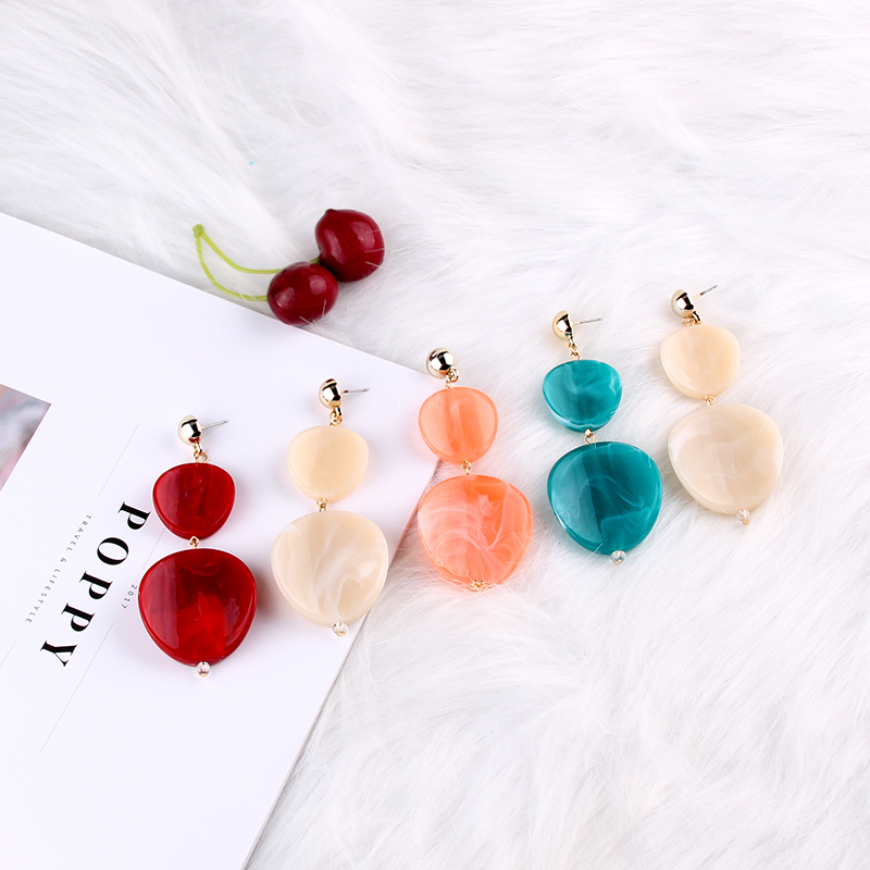 0b82c5d4c6265f Dvacaman Brand 2018 Semi-precious Colorful Round Beads Drop Earrings Women  Dangle Pendant Earrings Summer Beach Jewelry Ear AG90