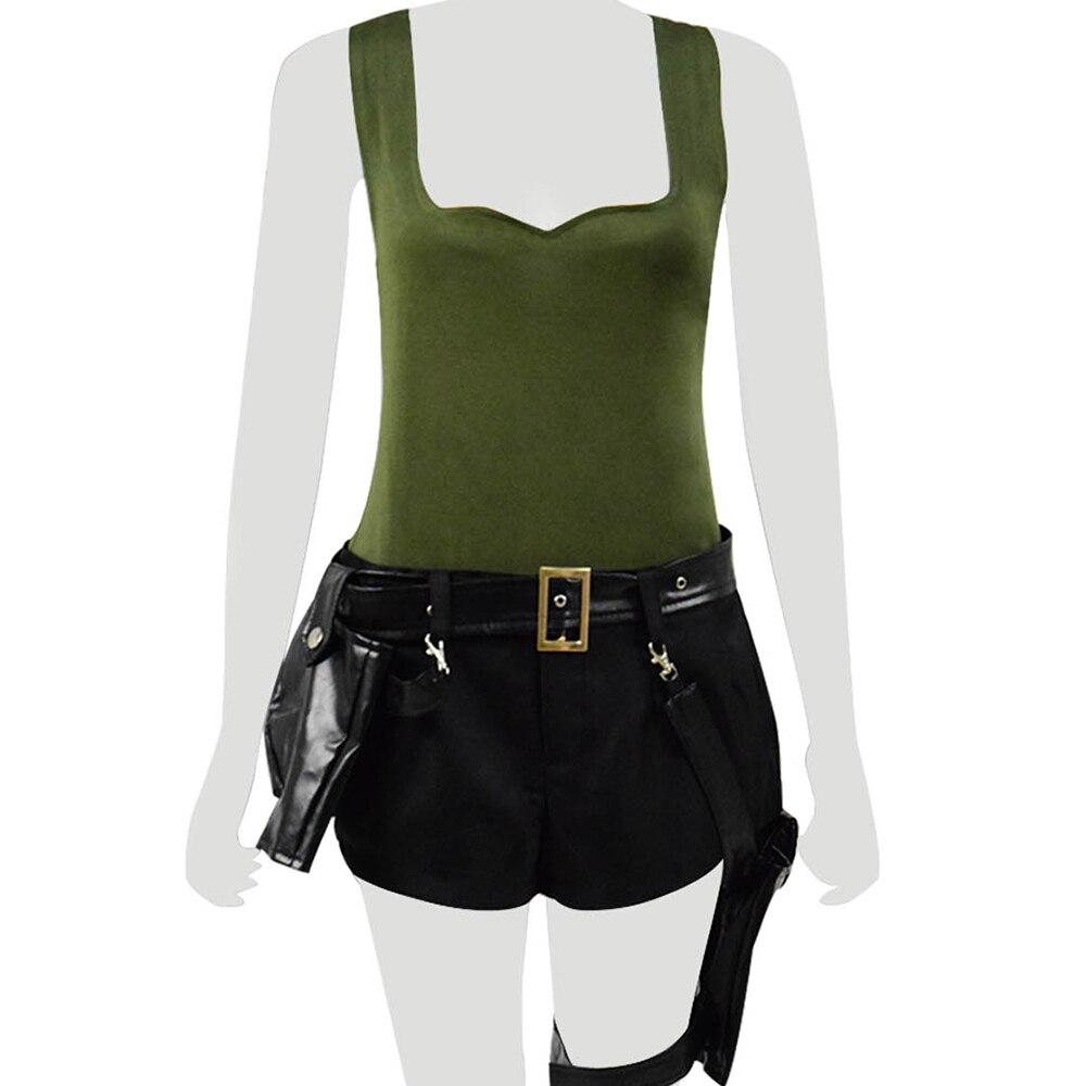 Game Tomb Raider Lara Croft Cosplay Costume Battle Suit Halloween Cosplay Full Set Women Cosplay