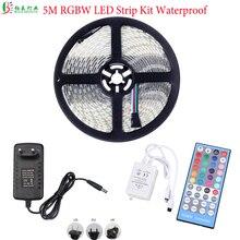 15 м 5050 RGBW белый/теплый белый RGB Светодиодные ленты светодиодный Диод фитолента Водонепроницаемый IP65+ 40Key с дистанционным управлением RGBW контроллер+ DC12V Мощность