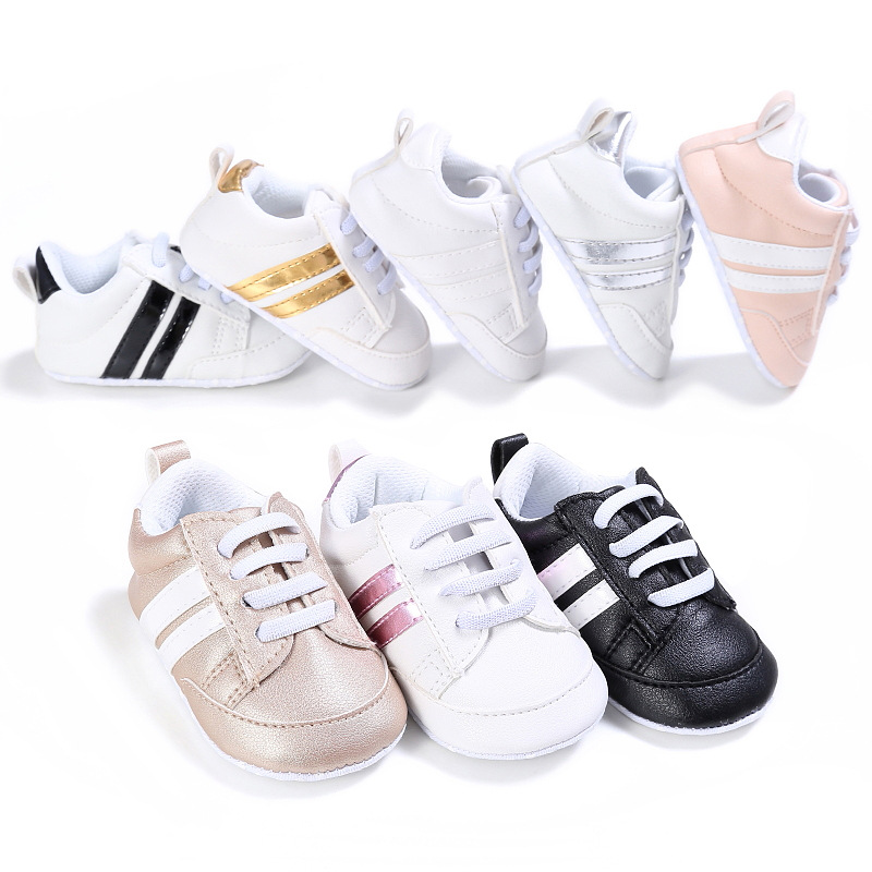 Spring And Autumn 0-1 Years Old Boy And Girl Baby Shoes Casual Sports Soft Bottom Non-slip Baby Toddler Shoes Infant First Walks